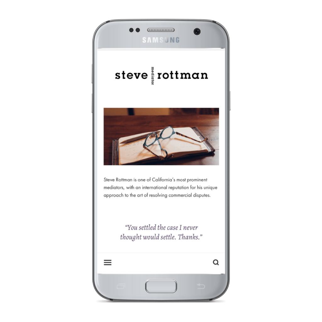 Steve Rottman Phone Layout